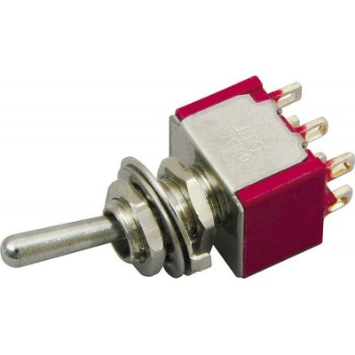 DIMARZIO EP1107 DPDT 3-WAY MINI SWITCH (on-off-on)