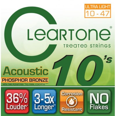 CLEARTONE 7410 ACOUSTIC PHOSPHOR BRONZE ULTRA LIGH...